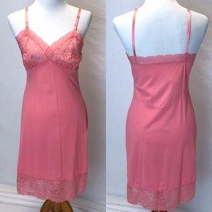 Vintage Van Roalte | coral slip chemise 34